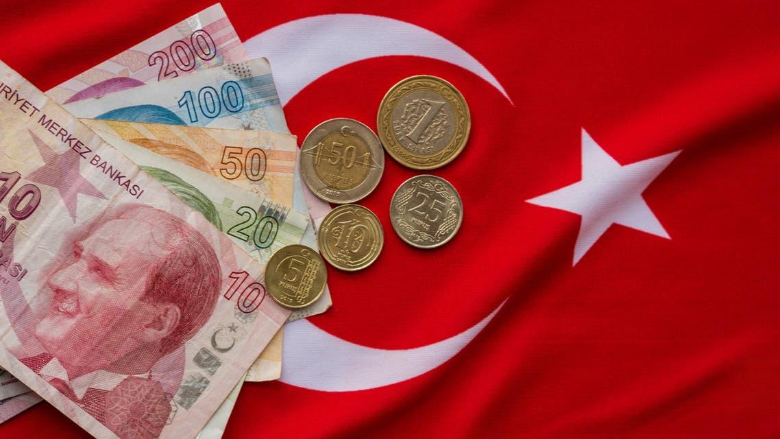 الليرة التركية علم تركيا تعبيرية