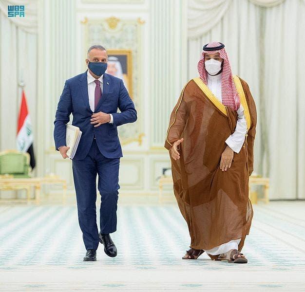 محمد بن سلمان ومصطفی الکاظمی