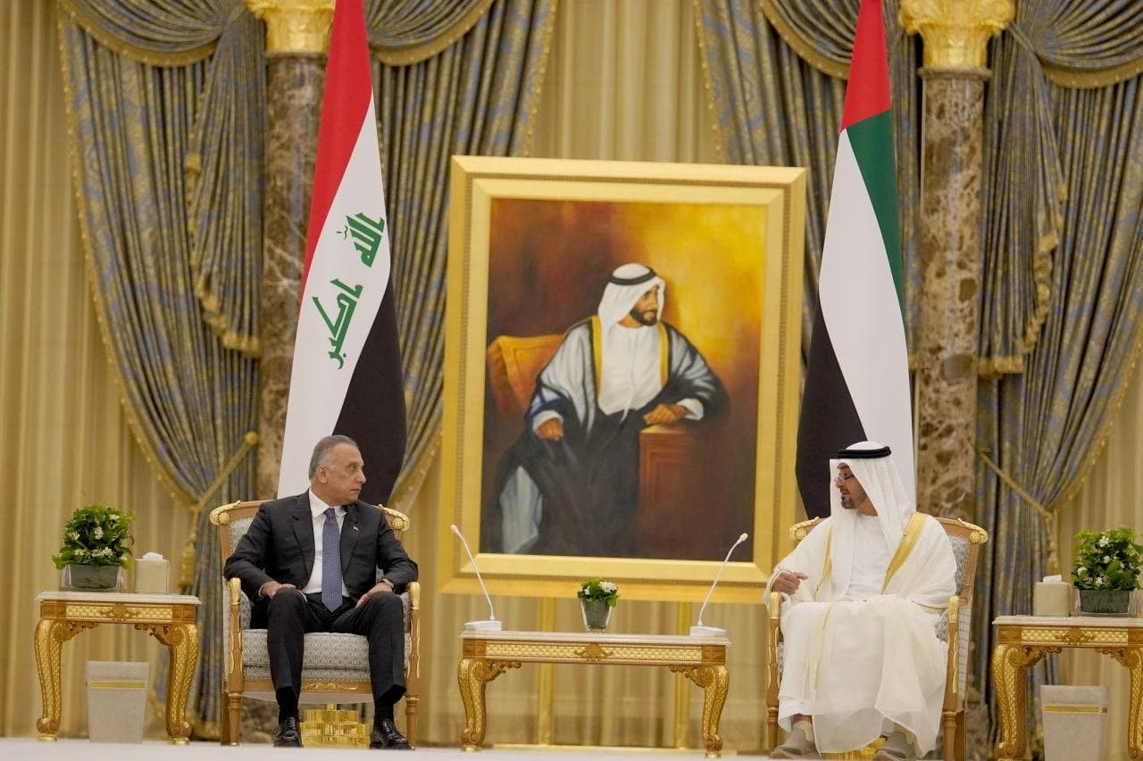 Iraq's prime minister meets with Abu Dhabi's Crown Prince. (Reuters)