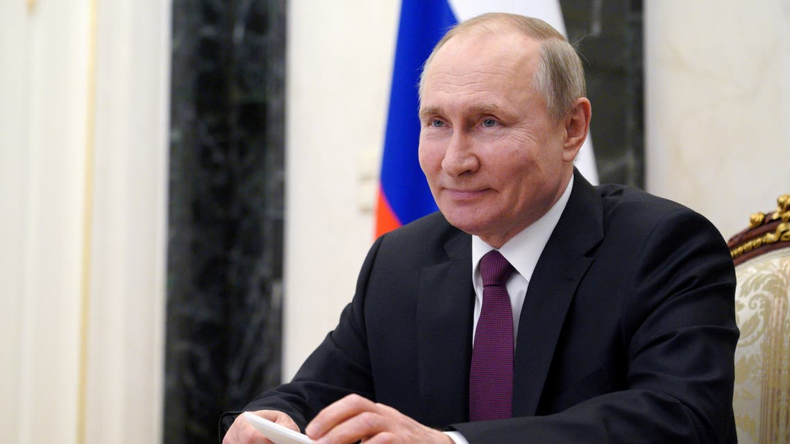Russian President Vladimir Putin takes part in a video conference call with officials and young professionals in Moscow, Russia March 25, 2021. (File photo: Reuters)