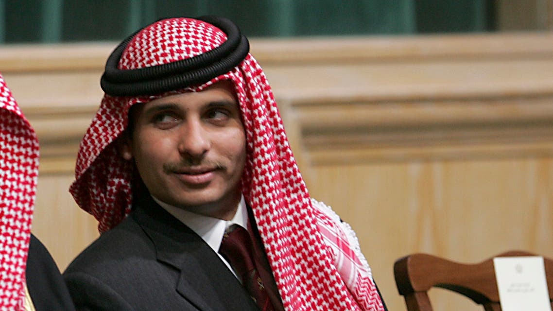 Prince Hamzah Binal-Hussein attends the opening of the parliament in Amman, Jordan. (AP)
