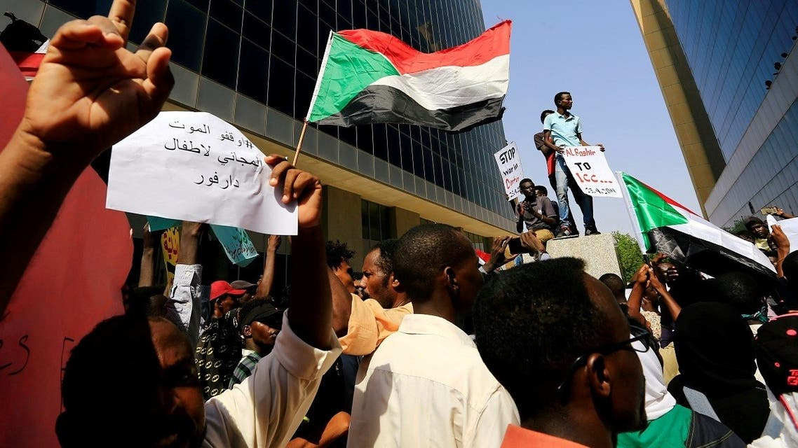 Protesters attend a rally calling for a stop to killing in Darfur and stability for peace, next to a building in front of Ministry of Justice in Khartoum, Sudan. (File photo: Reuters)