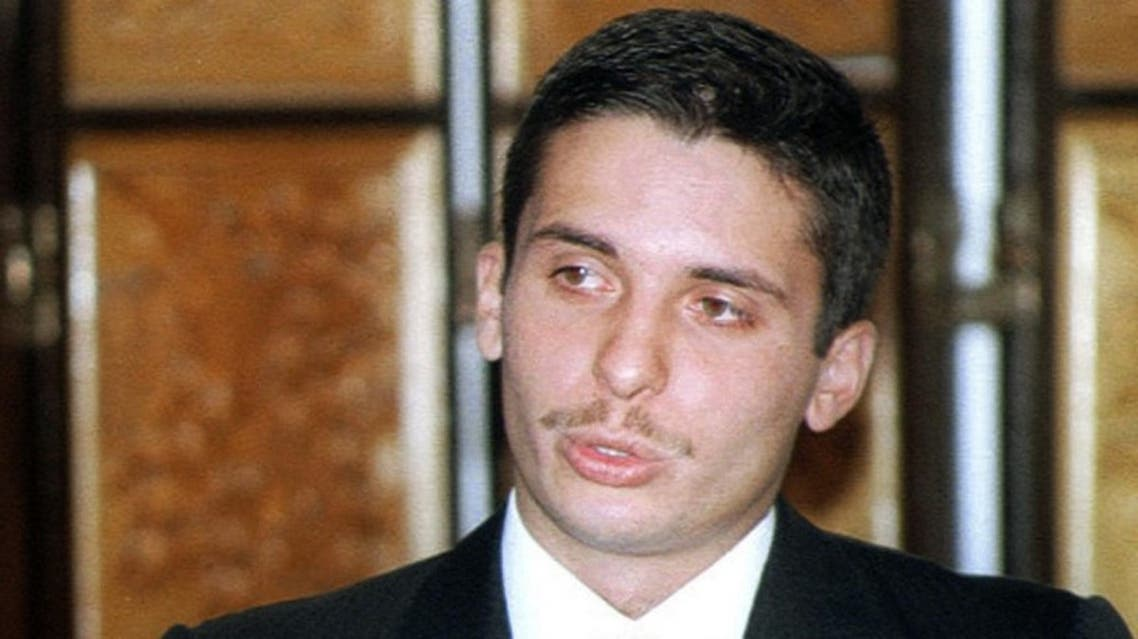 Jordan's Crown Prince Hamza addresses the Third Arab Youth Gathering in Amman 17 August 2001. (File photo: AFP)