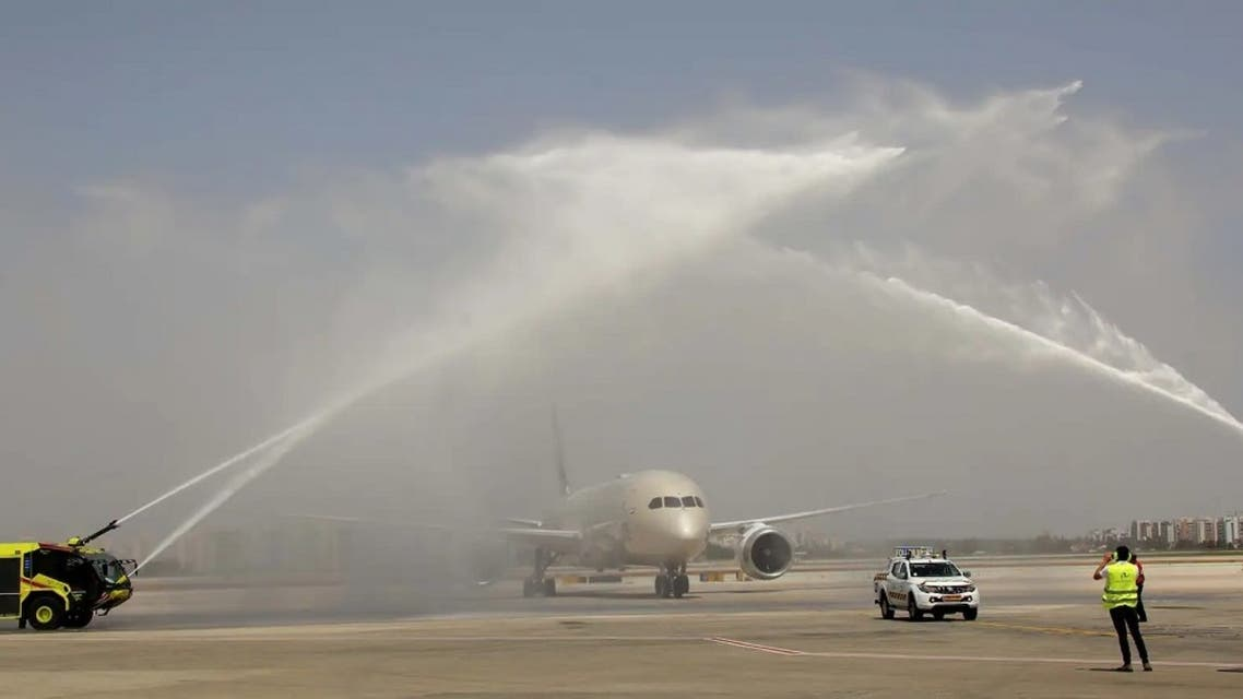 Abu Dhabi based flag-carrier Etihad Airways makes history at Ben Gurion International Airport. (Supplied)
