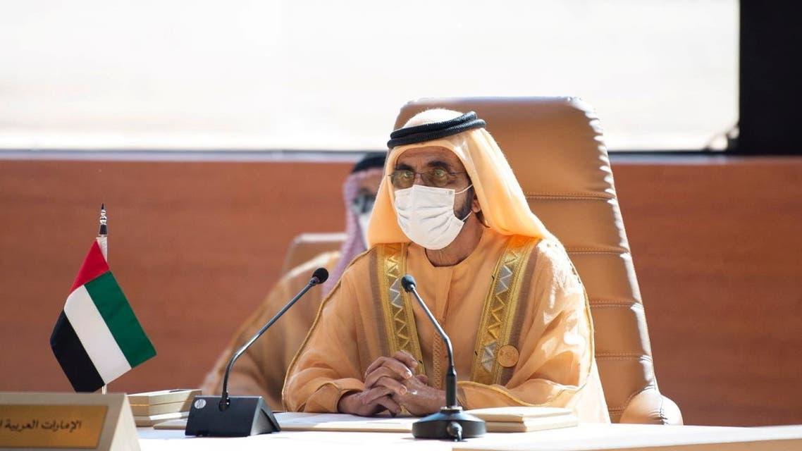 Prime Minister and Vice-President of the United Arab Emirates and ruler of Dubai Sheikh Mohammed bin Rashid al-Maktoum, attends the Gulf Cooperation Council's (GCC) 41st Summit in Al-Ula, Saudi Arabia January 5, 2021. (File photo: Reuters)