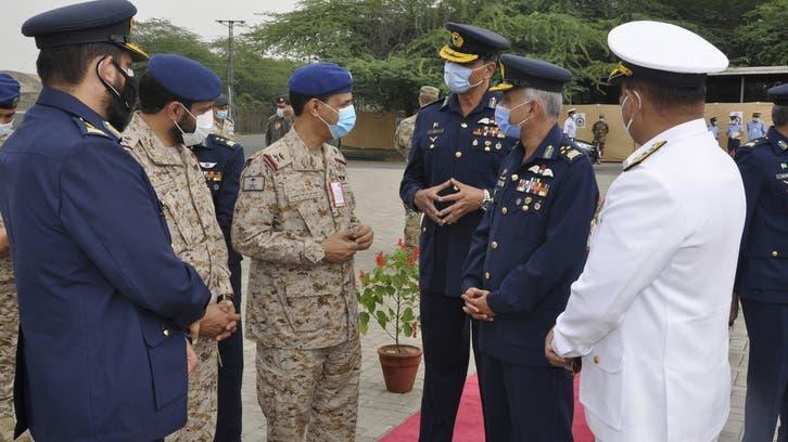کنگ عبدالعزیز ایئر بیس کے کمانڈر کا پاکستان میں جاری مشترکہ فضائی مشقوں کا دورہ