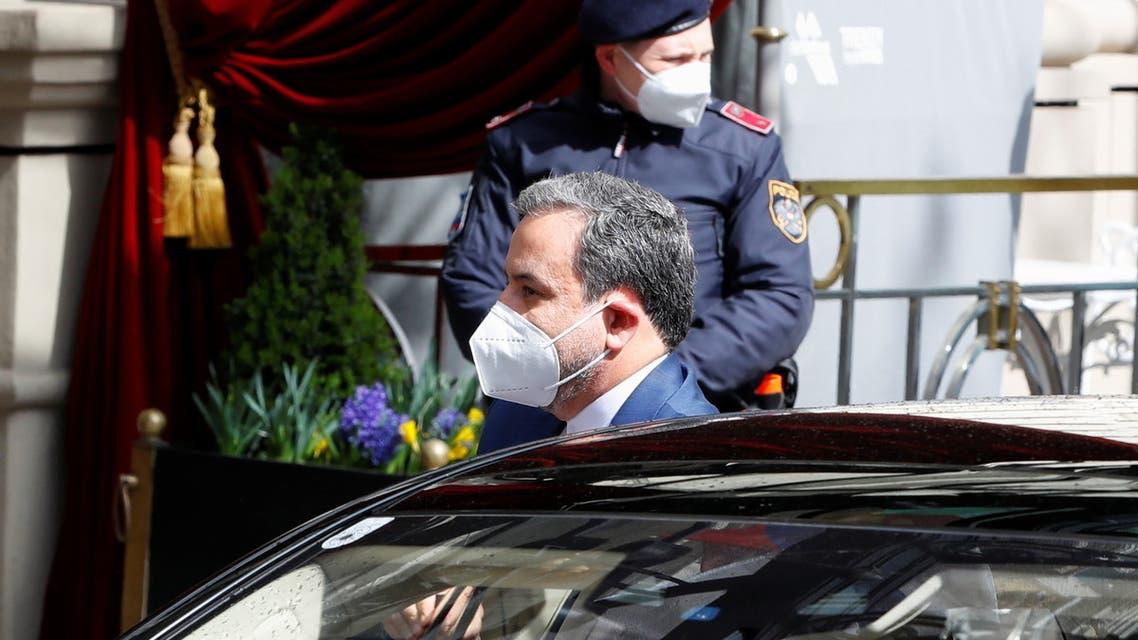 عباس عراقجي في فيينا ( 6 أبريل 2021-رويترز)