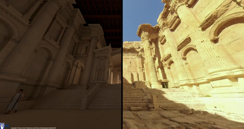 Lebanon's Baalbek ruins recreated digitally for a virtual tour app. (Flyover Zone)