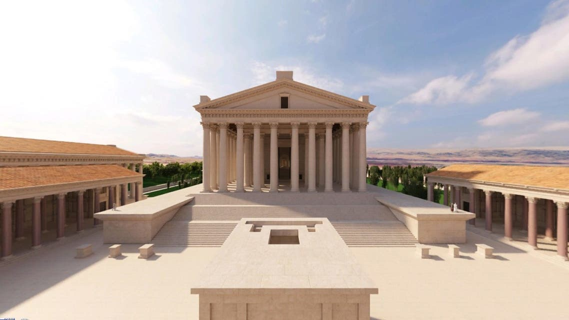 A look into the recreated temples of Baalbek made for a virtual tour app. (Flyover Zone)
