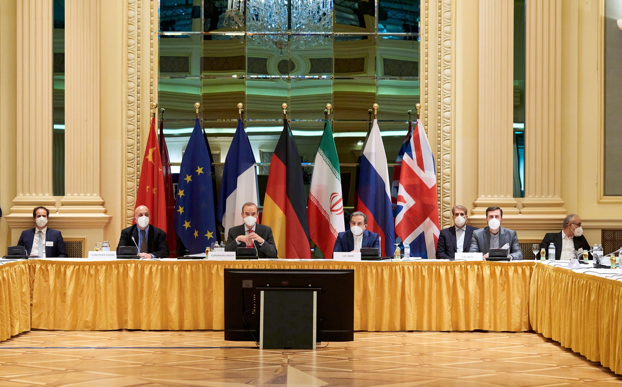من اجتماعات فيينا حيث تعقد محادثات نووي إيران (أرشيفية من رويترز)