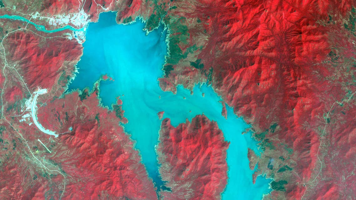 The Blue Nile River is seen as the Grand Ethiopian Renaissance Dam reservoir fills near the Ethiopia-Sudan border, in this broad spectral image taken November 6, 2020. (File photo: Reuters)