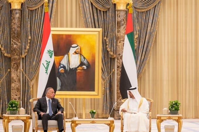 عراقی وزیراعظم مصطفی الکاظمی امارات کے دورے کے دوران ولی عہد ابو ظبی کے ساتھ
