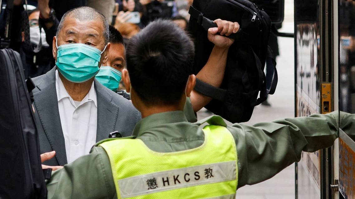 Media mogul Jimmy Lai, founder of Apple Daily, leaves the Court of Final Appeal by prison van in Hong Kong, China February 9, 2021. (File photo: Reuters)
