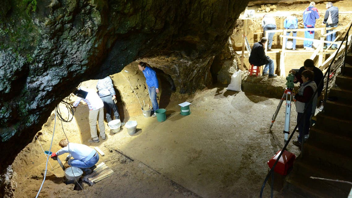 A view of excavations at Bacho Kiro Cave in Bulgaria, where the remains of anatomically modern humans (Homo sapiens) who lived approximately 45,000 years ago were found, is seen in this undated handout photograph. (Reuters)