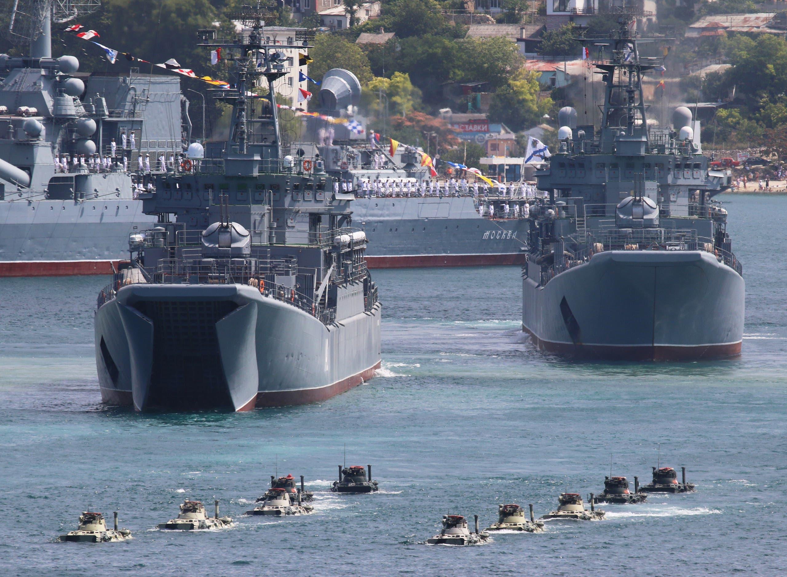 سفن حربية روسية في البحر الأسود (أرشيفية)