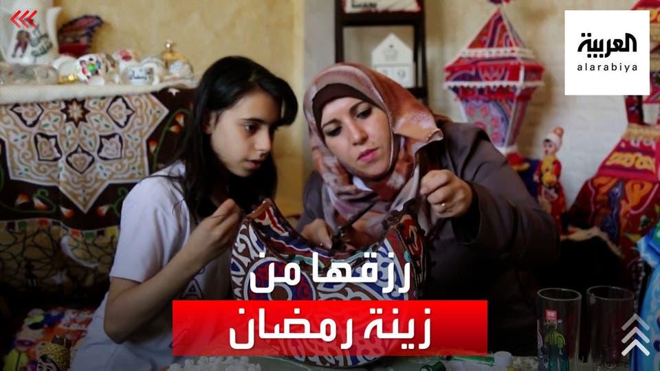 فلسطينية تعيل أسرتها بصناعة زينة رمضان