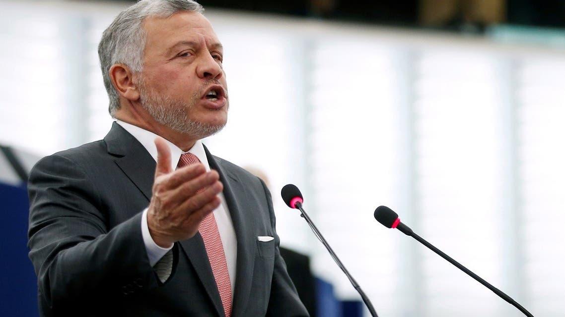 King of Jordan Abdullah II addresses the European Parliament in Strasbourg, France Jan.15, 2020. (Reuters)