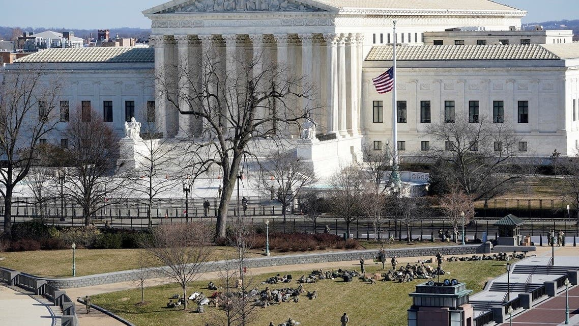 A view of the Supreme Court in Washington, Jan. 19, 2021. (Reuters)