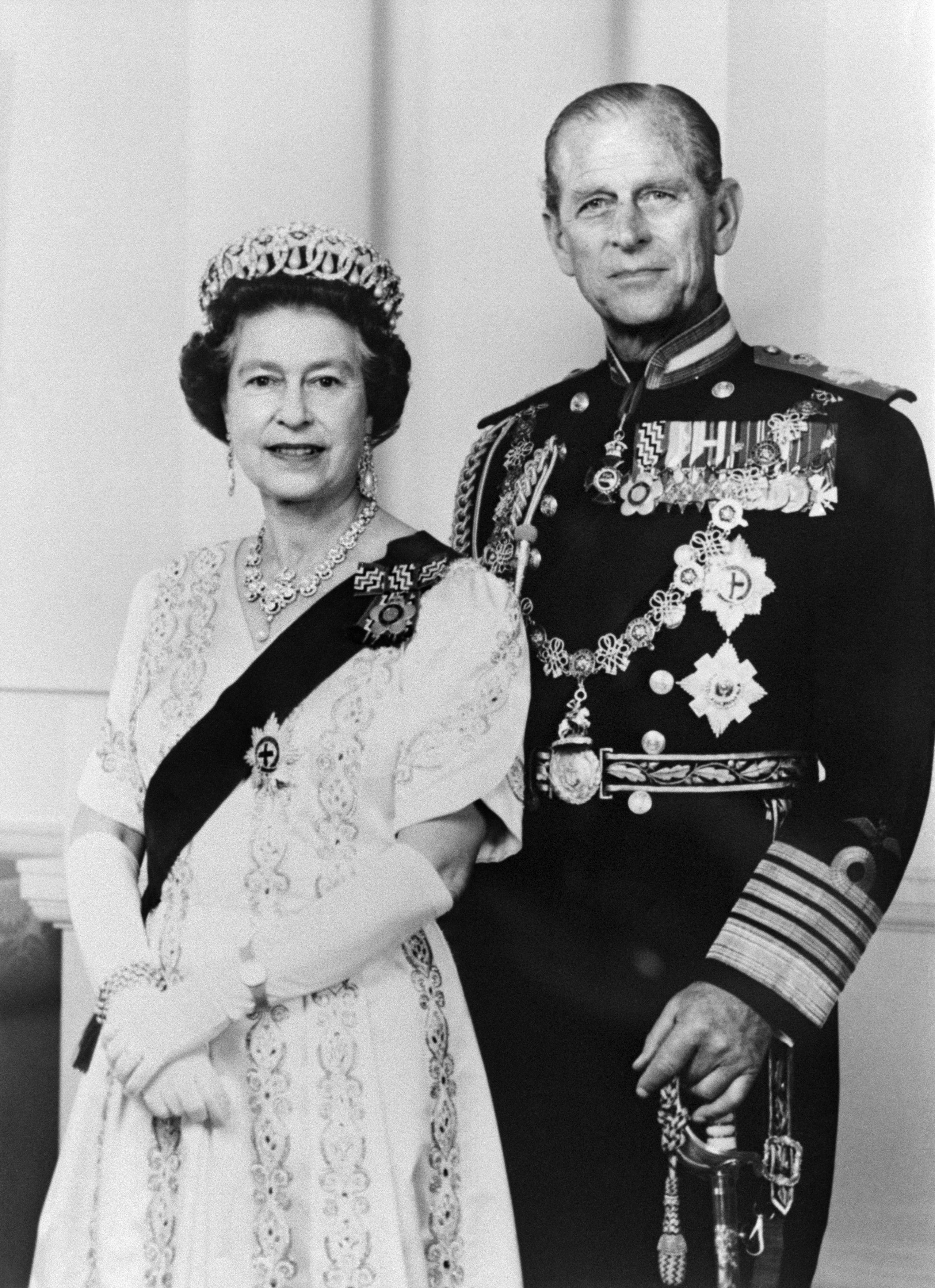 In this file photo taken on June 01, 1987 Official portrait released in June 1987 and taken at Buckingham Palace shows Britain's Queen Elizabeth II and and Prince Philip, Duke of Edinburgh. Queen Elizabeth II's 99-year-old husband Prince Philip, who was recently hospitalised and underwent a successful heart procedure, died on April 9, 2021, Buckingham Palace announced. (File photo: AFP)