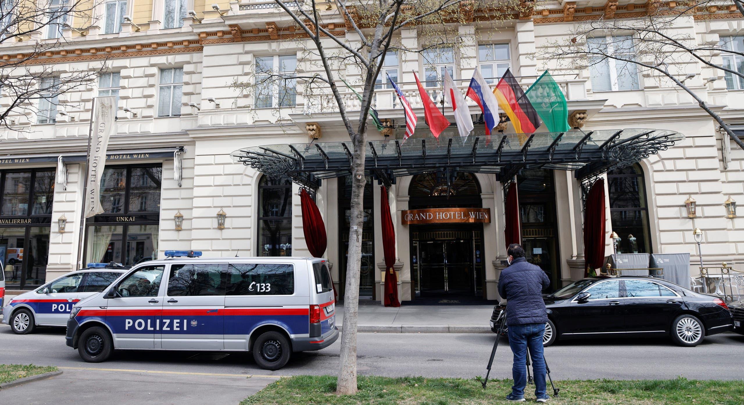 من الفندق في فيينا حيث عقدت محادثات نووي إيران