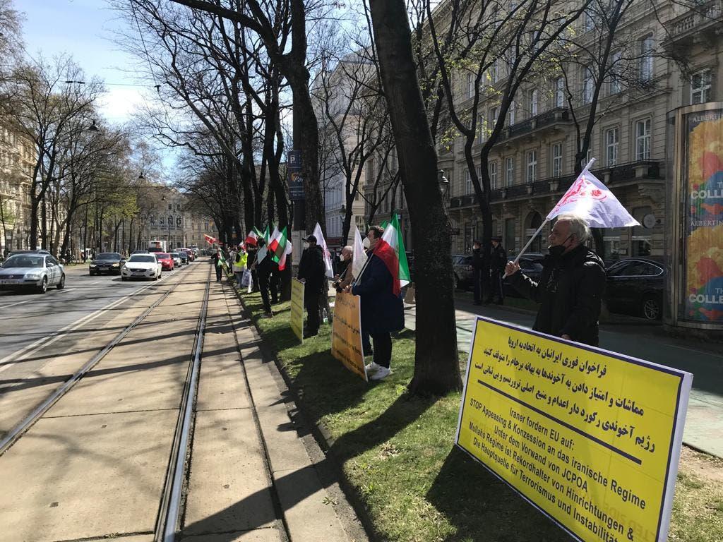 ادامه جلسات وین با تجمعات اعتراضی ایرانیان همراه شد