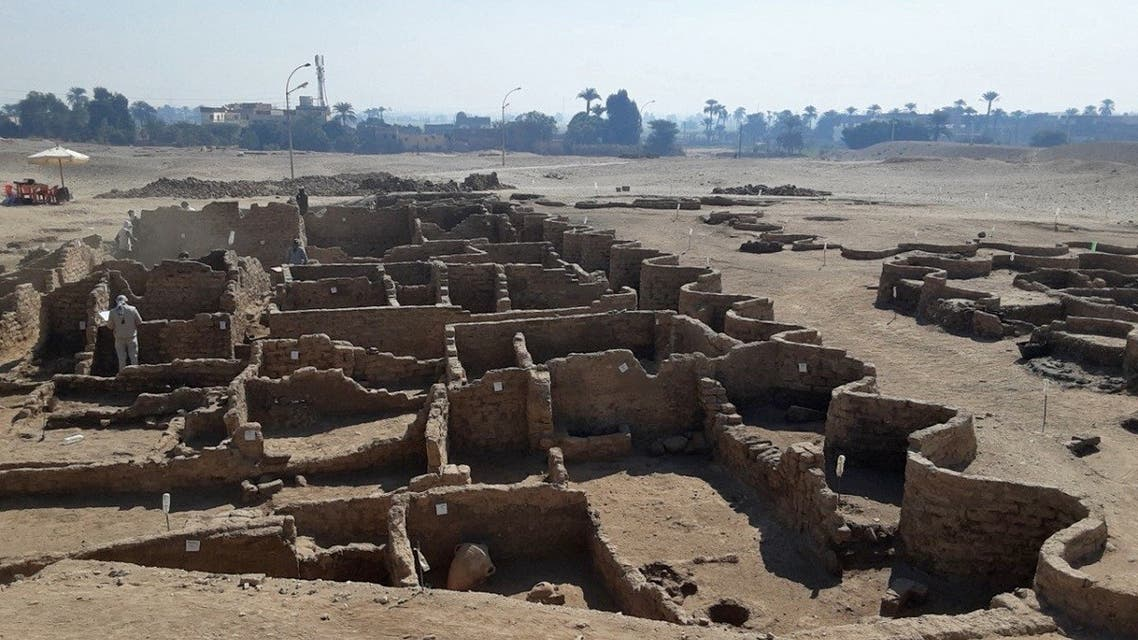 The remains of a 3000 year old city, dubbed 'The Rise of Aten,' dating to the reign of Amenhotep III, uncovered by the Egyptian mission near Luxor. (AFP)