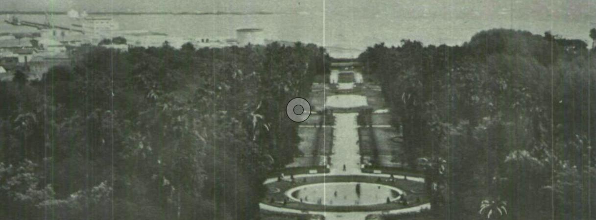 إحدى الحدائق العامة المطلة على البحر، في مدينة الجزائر