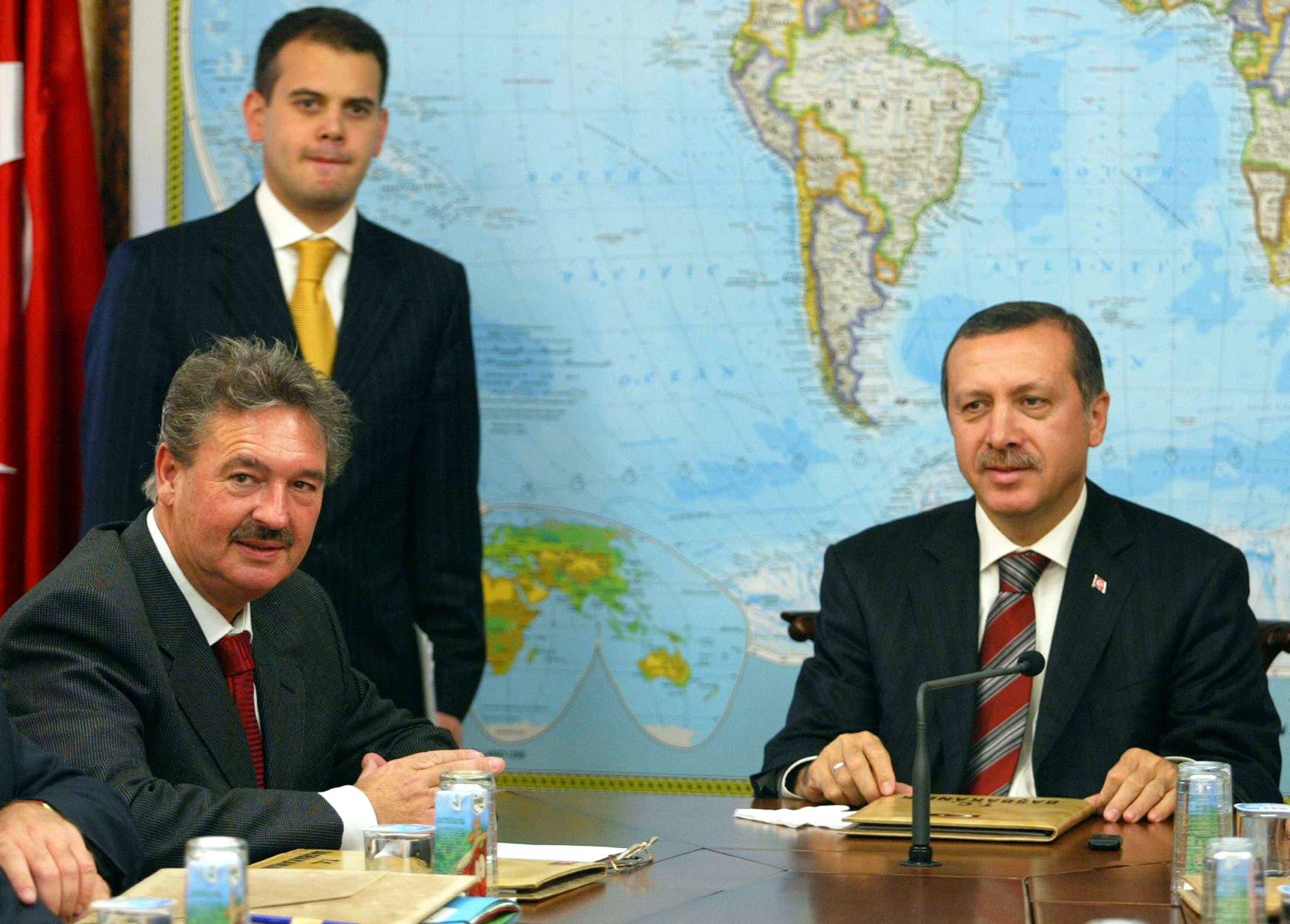 أسيلبورن  مع أردوغان في 2005 في أنقرة