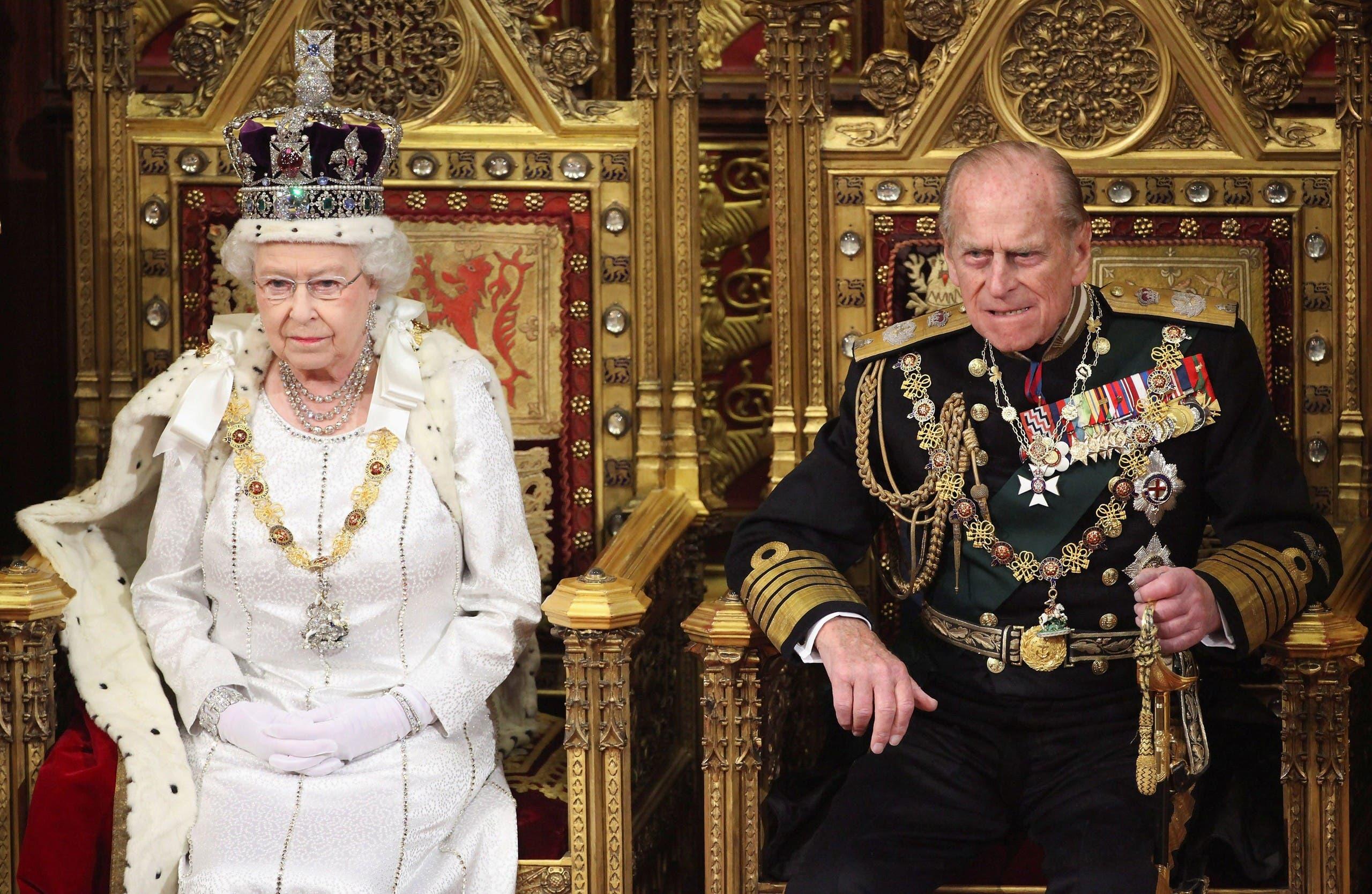 الملكة إليزابيث والأمير فيليب في 2012