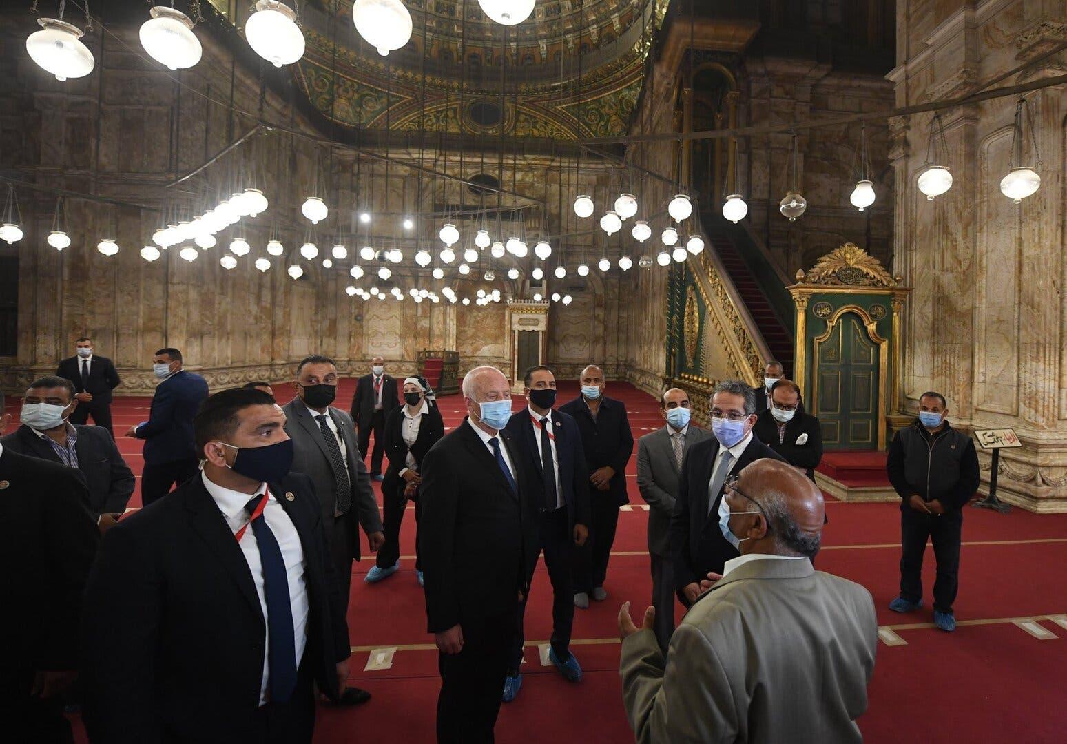 من جولة الرئيس التونسي في القاهرة التاريخية