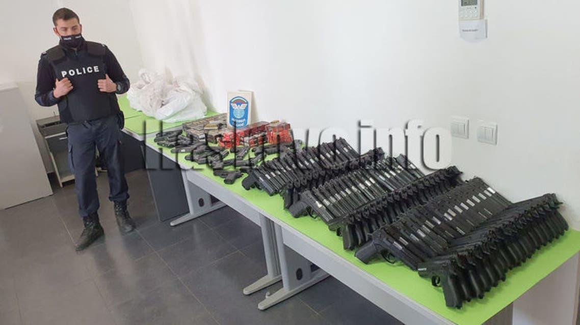 الأسلحة المضبوطة في بلغاريا على الحدود مع تركيا