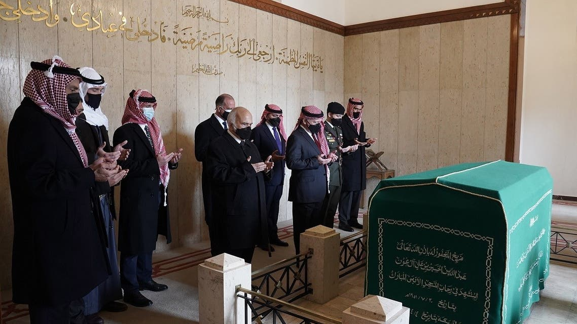 Jordan's King Abdullah is joined by Prince Hamzah and other members of the royal family. (Twitter)