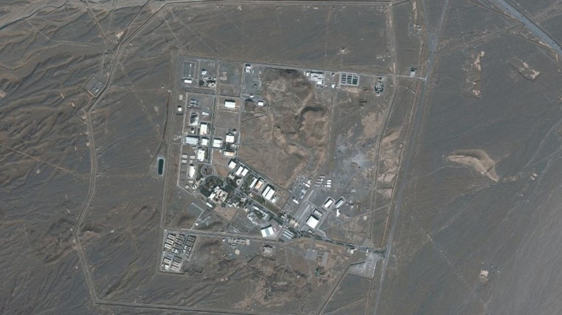 This file handout satellite image provided by Maxar Technologies on January 28, 2020, shows an overview of Iran's Natanz nuclear facility, south of the capital Tehran. (AFP)