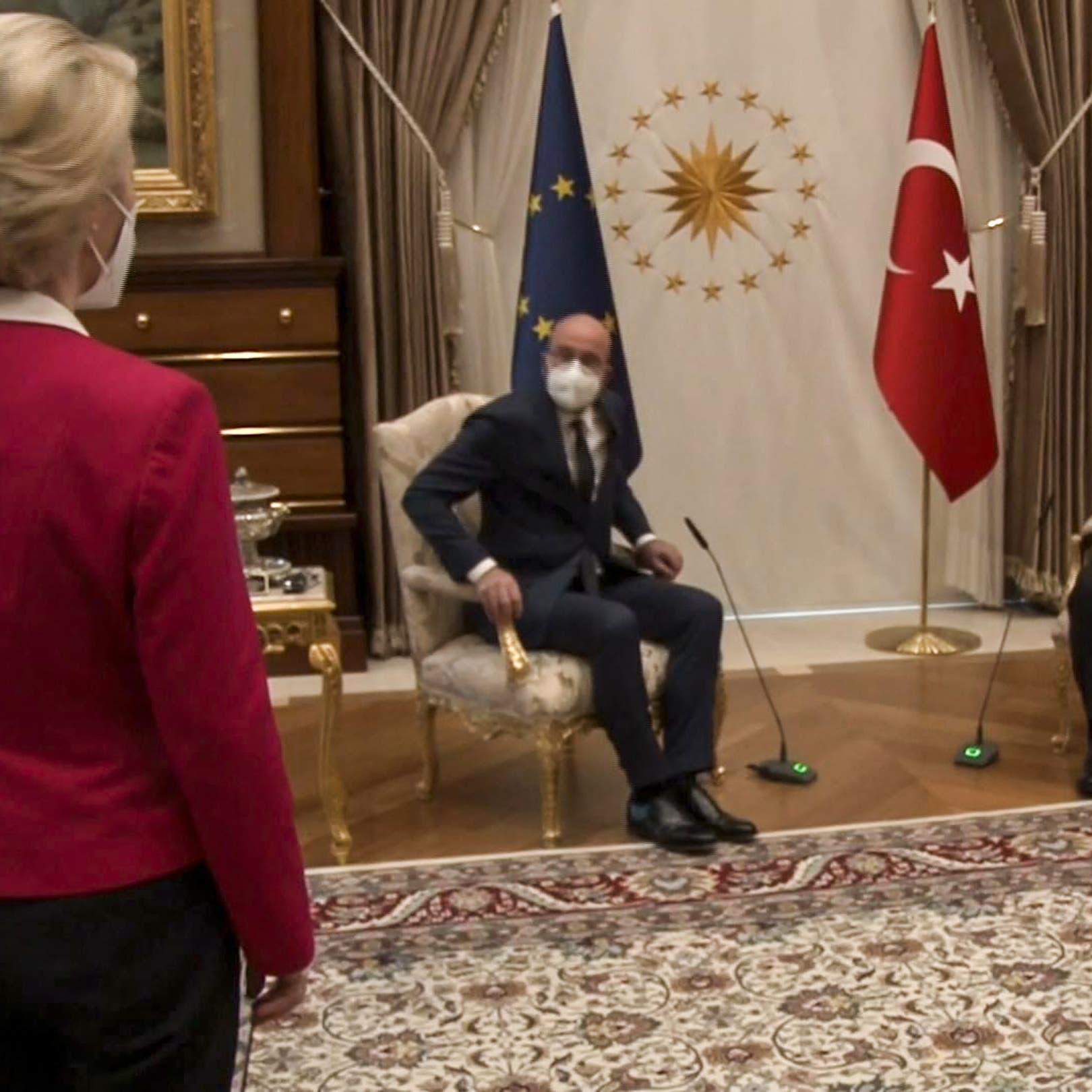 """""""فضيحة الكرسي"""" التركي.. كابوس يطارد رئيس المجلس الأوروبي"""
