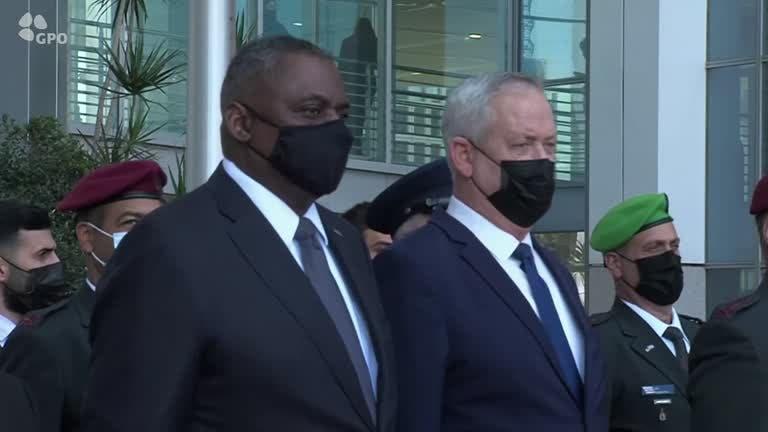 وزير الدفاع الأميركي ونظيره الإسرائيلي (رويترز)