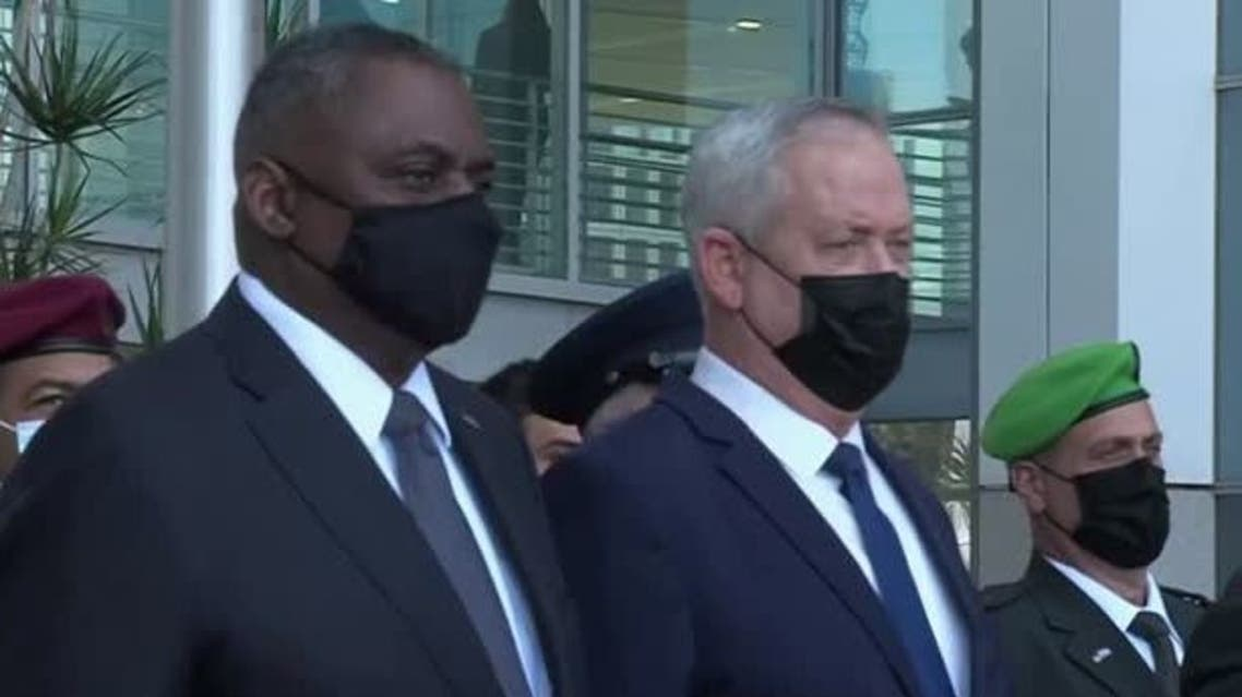 US Secretary of Defense Lloyd Austin and Israeli Minister of Defense Benny Gantz. (Reuters)
