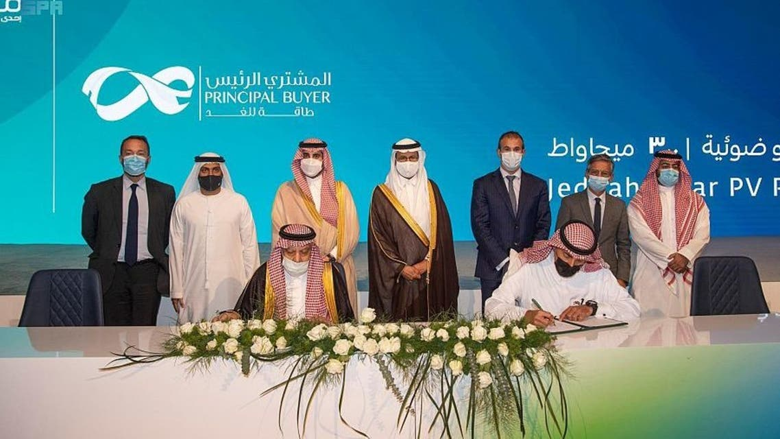 The consortium led by the United Arab Emirates' Masdar and EDF Renewables and Saudi Arabia's Nesma Company announced it is starting construction of a 300-megawatt (MW) utility-scale photovoltaic (PV) solar power plant in Jeddah. (WAM)