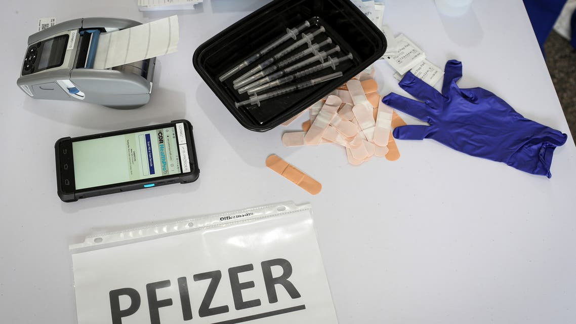 Doses of Pfizer coronavirus disease (COVID-19) vaccines are seen in a mass vaccination site supported by the federal government at the Miami Dade College North Campus in Miami, Florida, US, March 10, 2021. (File photo: Reuters)