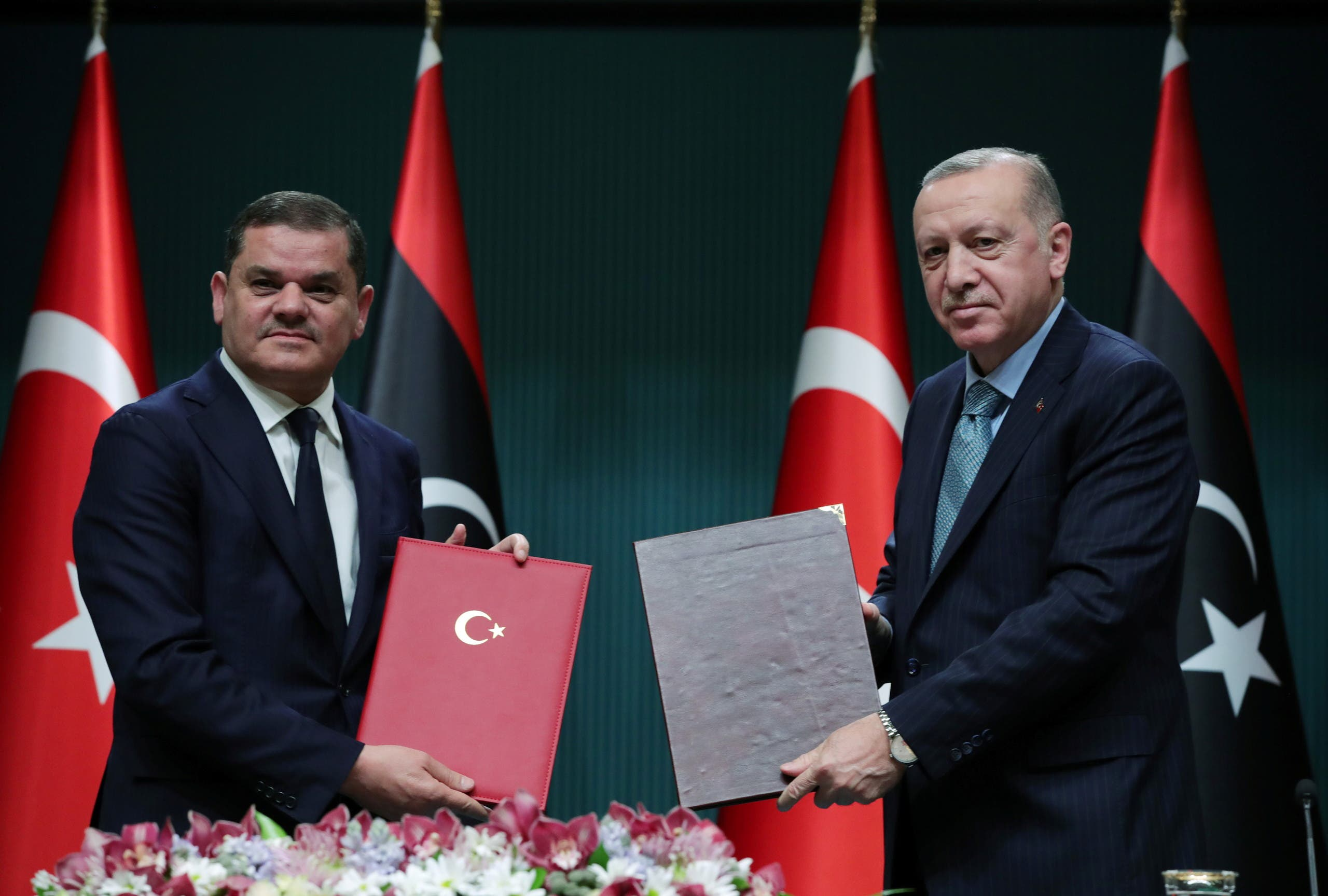 Erdogan y Dabaiba