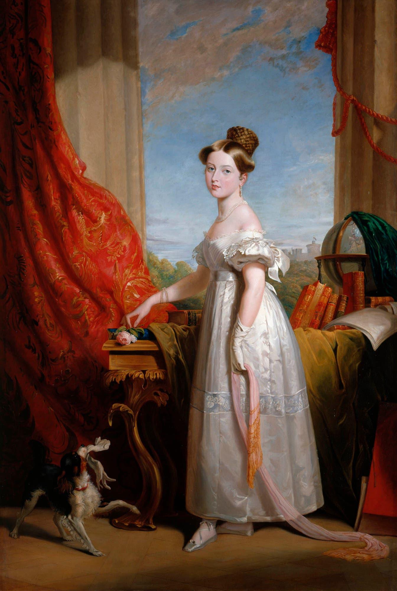 لوحة تجسد الملكة فكتوريا عام 1833