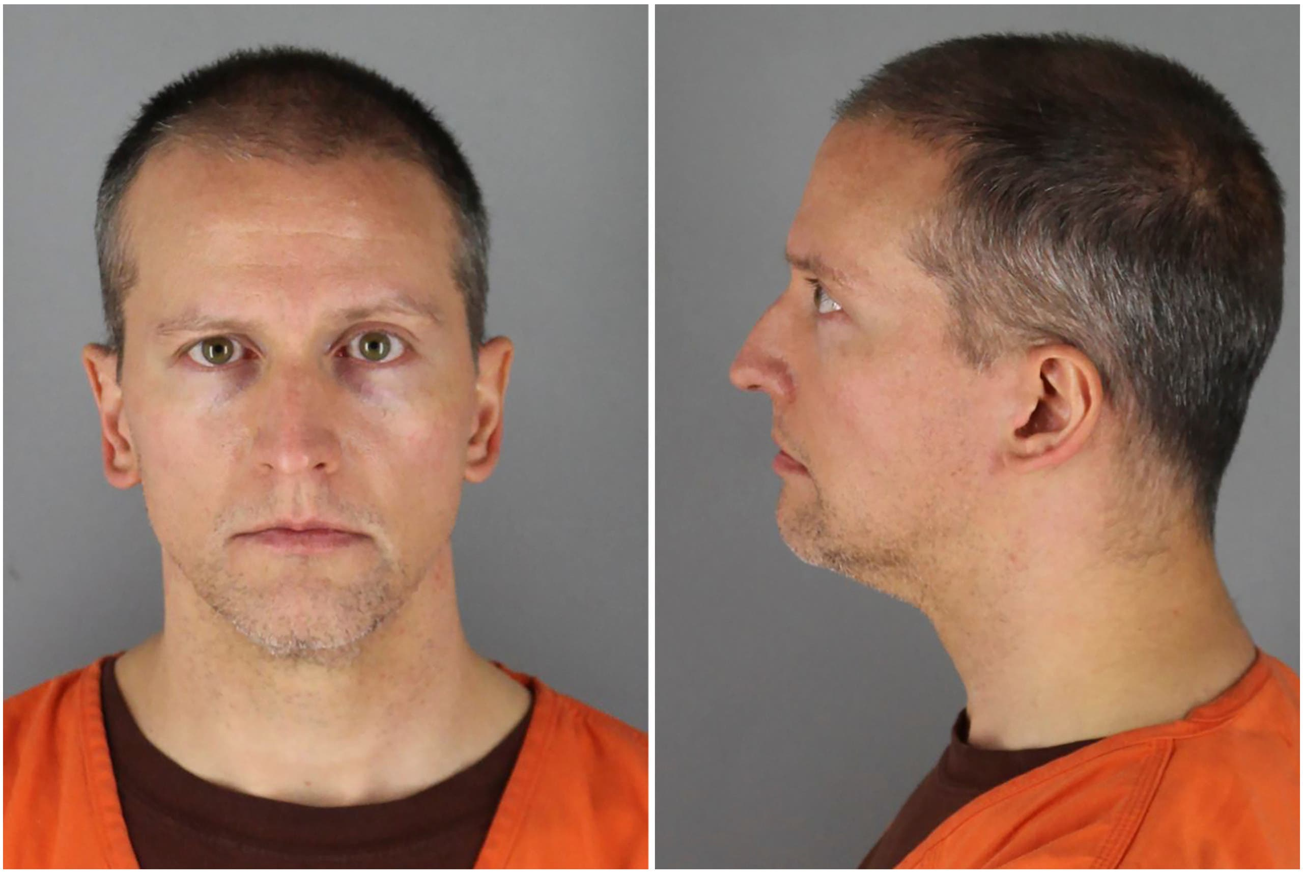 Former Minnesota police officer Derek Chauvin poses in a combination of booking photographs at Hennepin County Jail in Minneapolis, Minnesota, US May 31, 2020. (Reuters)