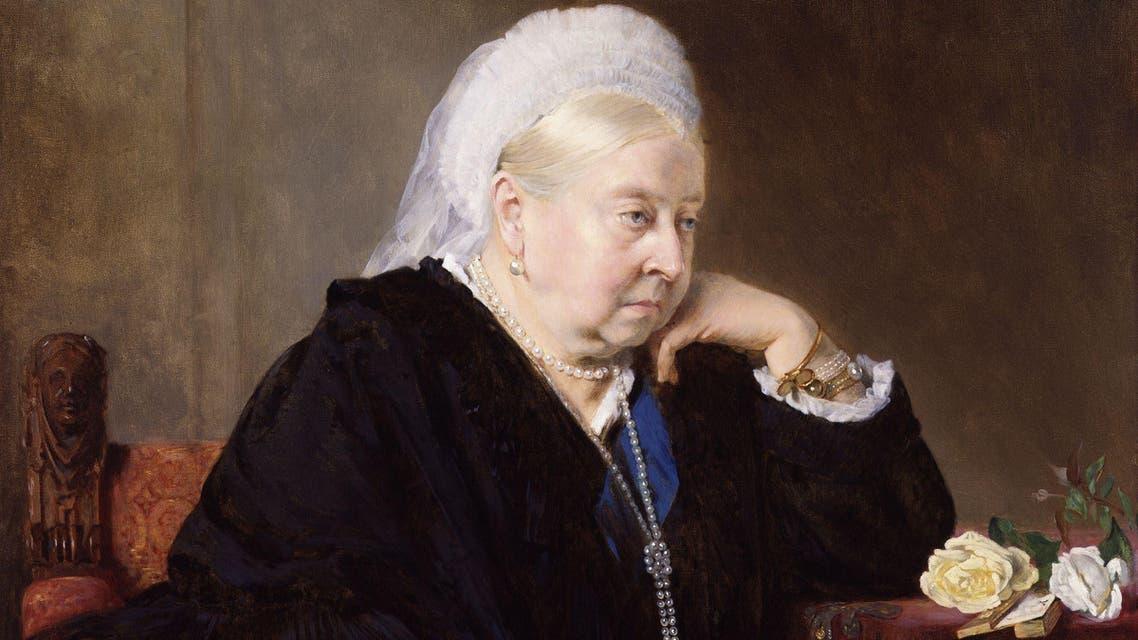 لوحة تجسد الملكة فكتوريا عام 1899