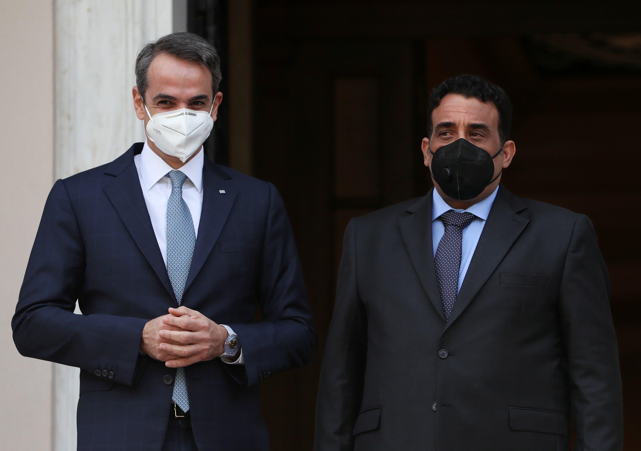 من لقاء المنفي برئيس الوزراء اليوناني في أثينا اليوم