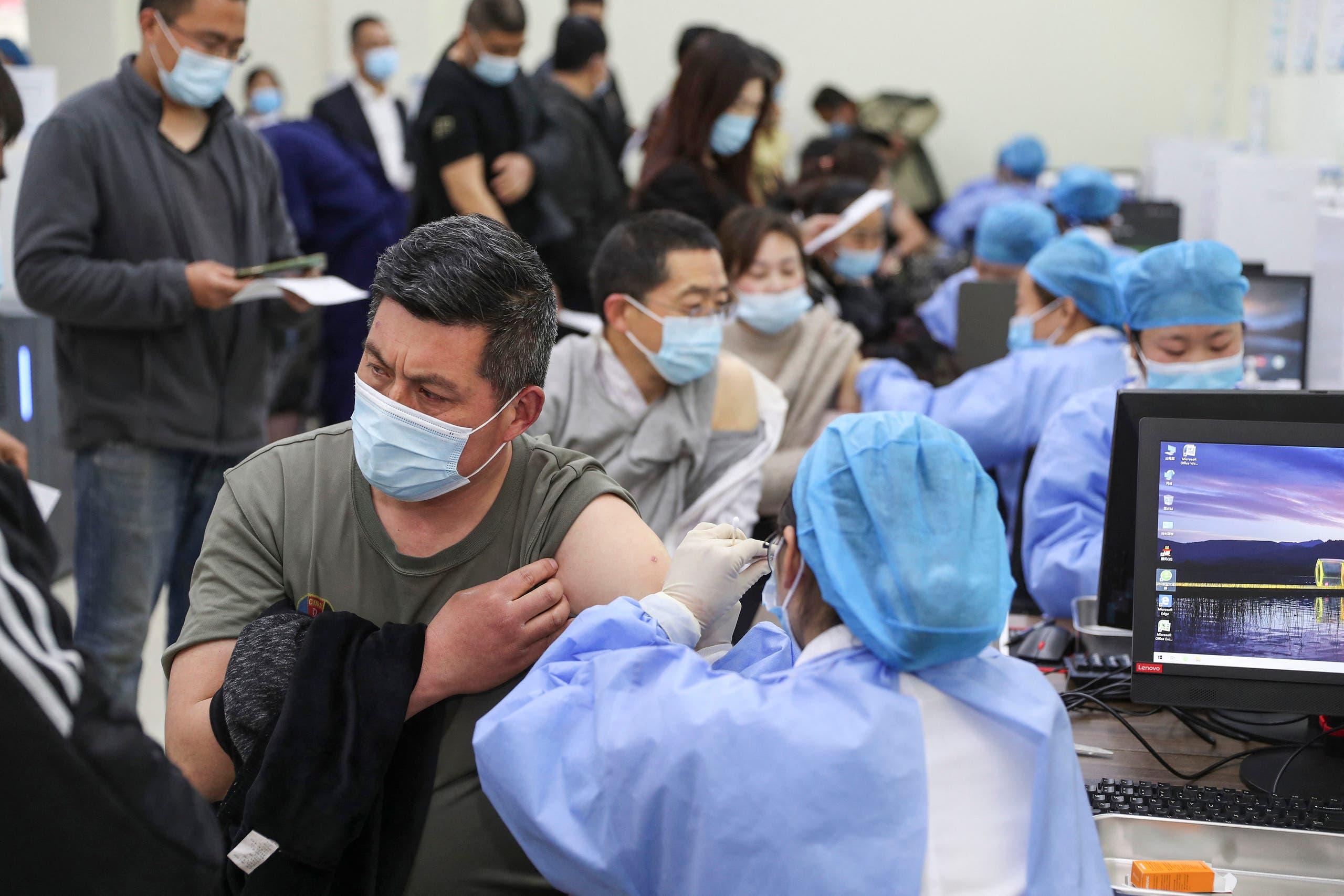 من حملة التطعيم في الصين