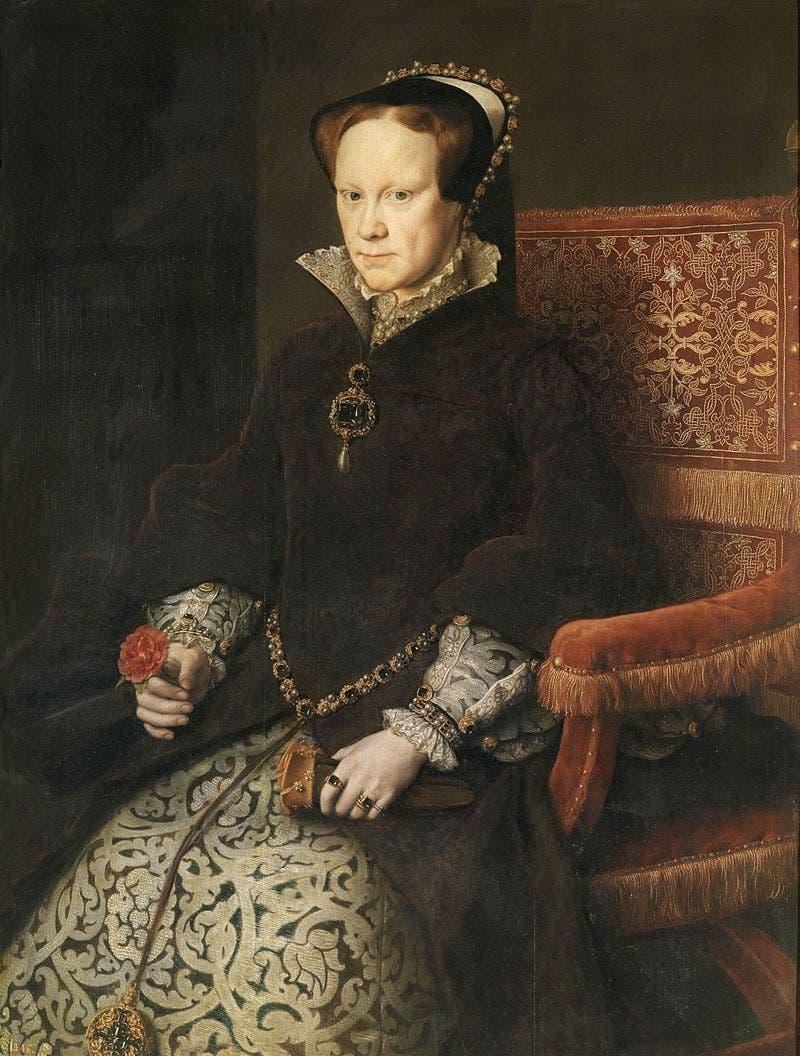 صورة للملكة ماري الأولى ابنة هنري الثامن من زواجه الأول