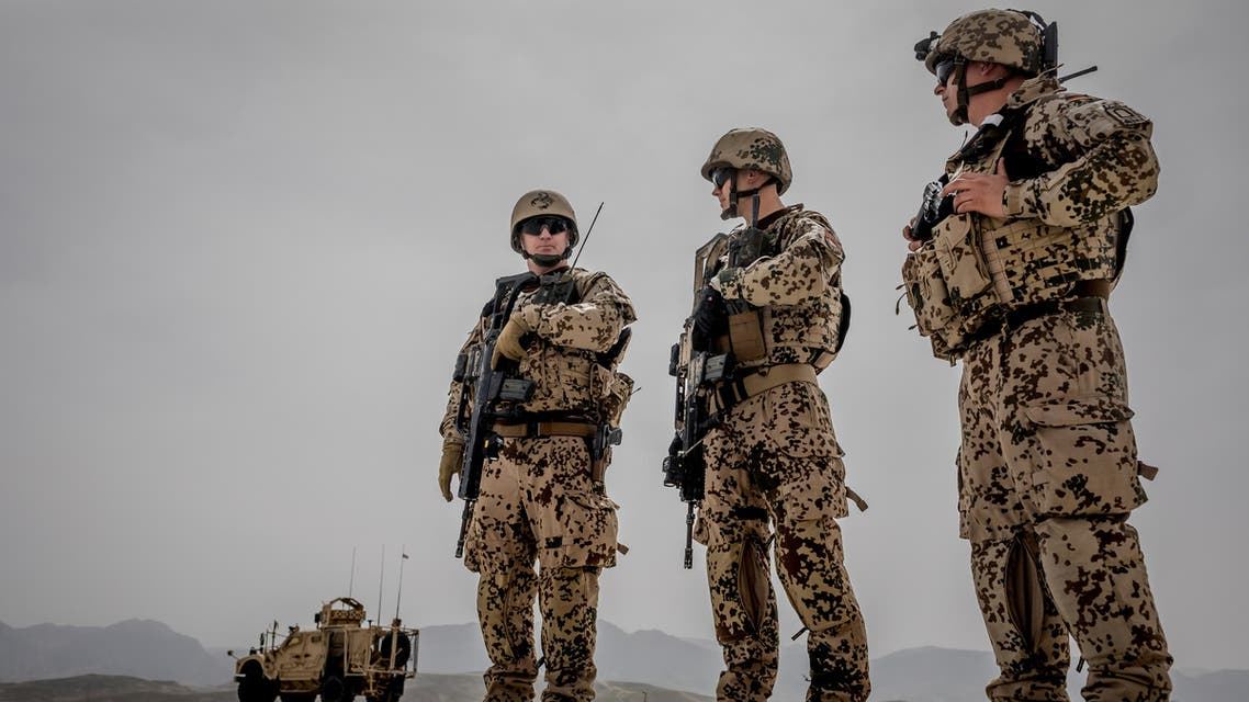 German Bundeswehr soldiers are seen at a camp in Afghanistan, March 25, 2018. (Reuters)