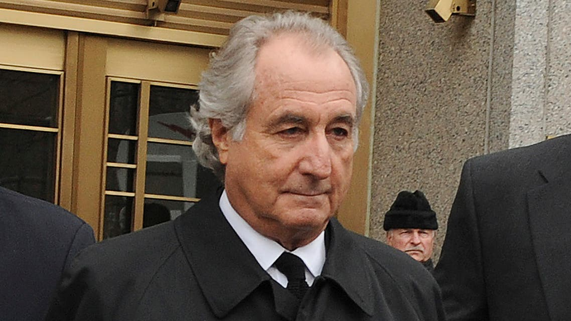 Bernard Madoff exits Manhattan federal court, Tuesday, March 10, 2009, in New York. Madoff, the financier who pleaded guilty to orchestrating the largest Ponzi scheme in history, died early Wednesday, April 14, 2021, in a federal prison, a person familiar with the matter told The Associated Press. (AP)