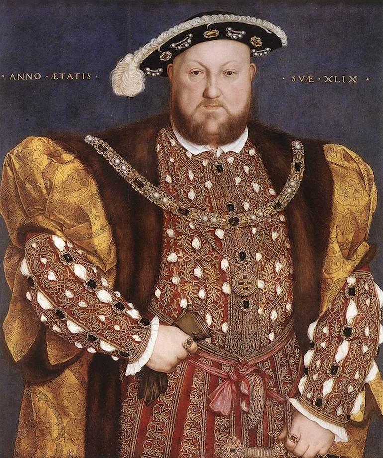 لوحة تجسد الملك هنري الثامن
