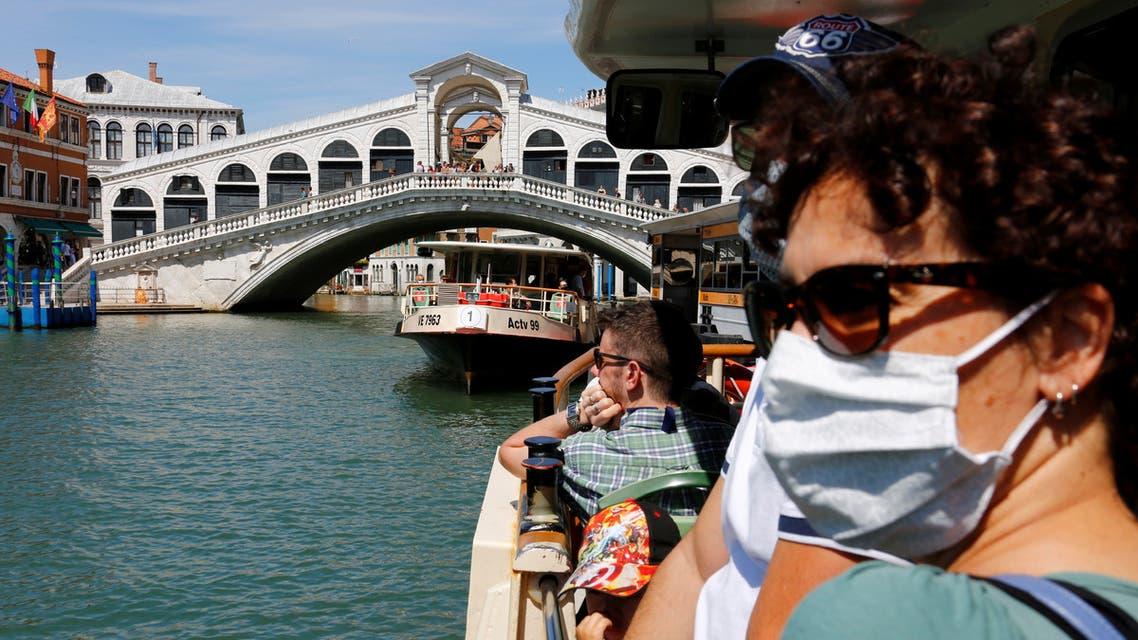 سياح في مدينة البندقية الإيطالية