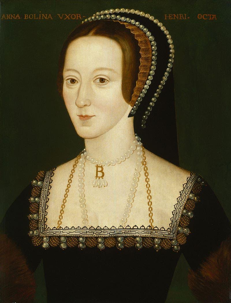 صورة لآن بولين الزوجة الثانية لهنري الثامن